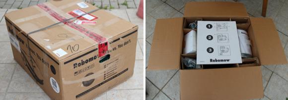 Robomow RM510 in Verpackung