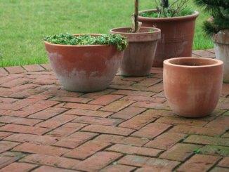 Moos entfernen auf der Terrasse
