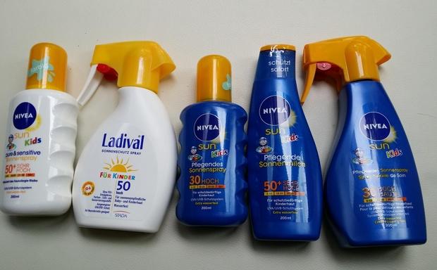 Sonnencreme und Sonnenmilch für Kinder