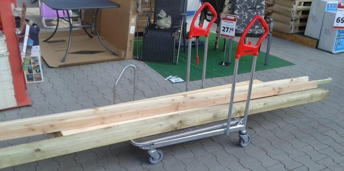 Holz für Gartentisch selber bauen