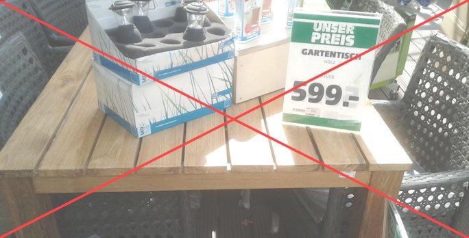 Gartentisch selbst bauen anleitung das gartenmagazin - Gartentisch bauanleitung ...