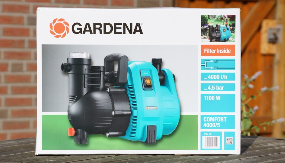 Karton Gardena Gartenpumpe 4000 / 5