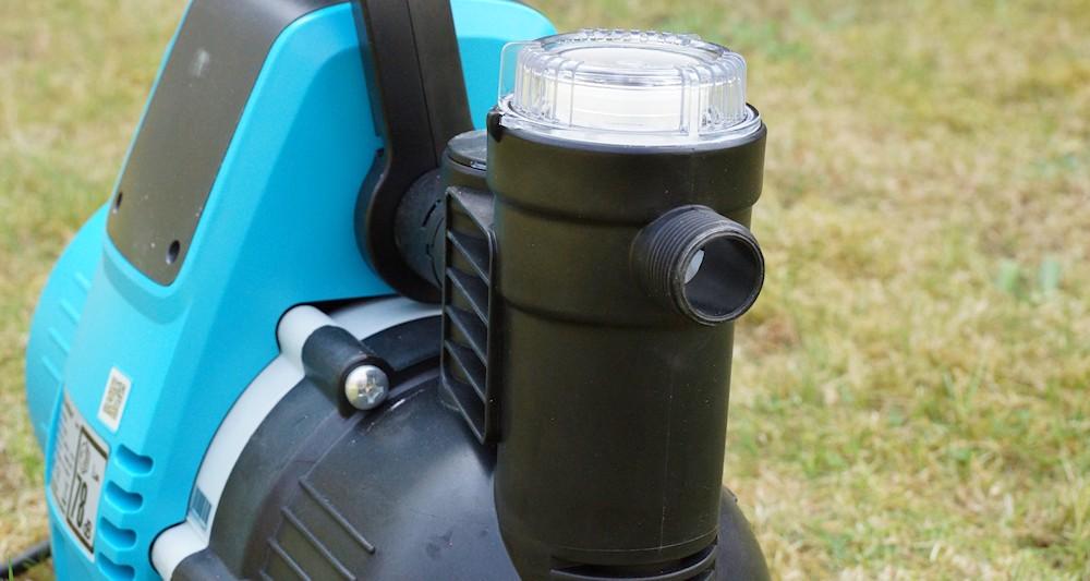 Wasseranschluss und Filter an der Gardena 4000/5e