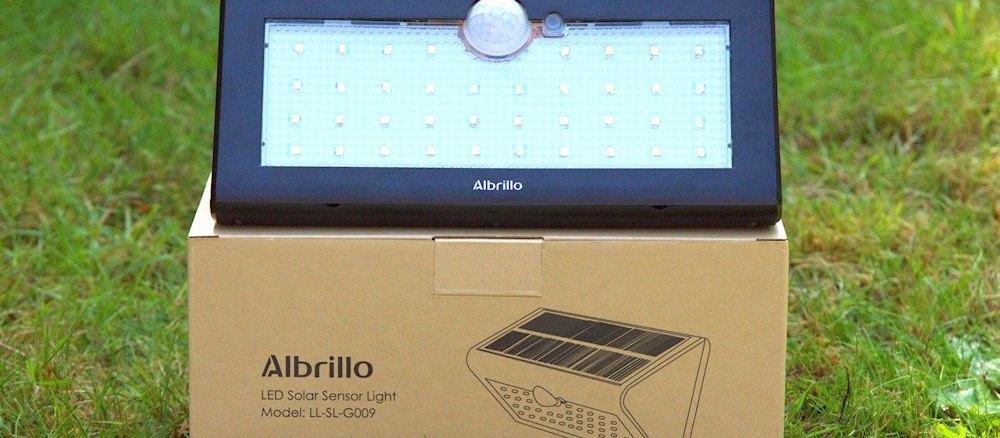 Abrillo LED Solarlampe mit Bewegungsmelder
