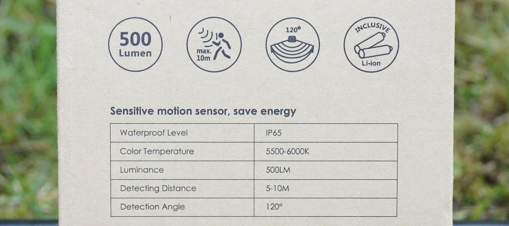 Technische Datenblatt LED Solarlampe