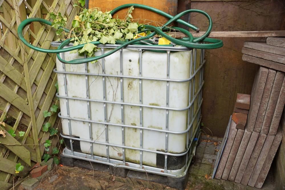 IBC Container Garten Regenwasser