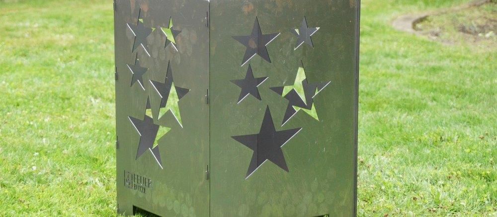 Feuerbutze Feuertonne mit Sternen