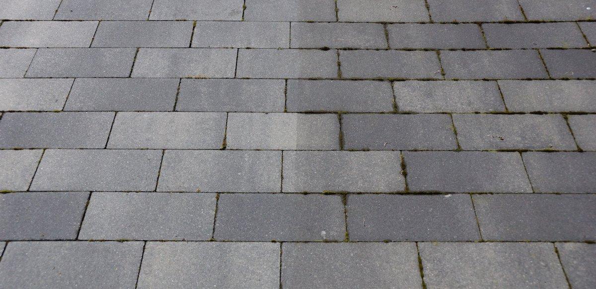 Terrasse mit Kärcher t 450 gereinigt