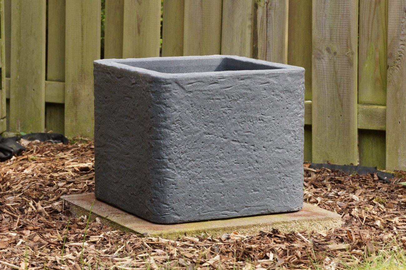 Pflanzkuebel Cube Betonoptik Lava Anthrazit