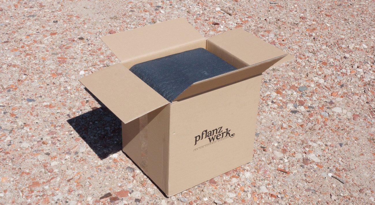 Lieferumfang und Verpackung Cube Pflanzkübel