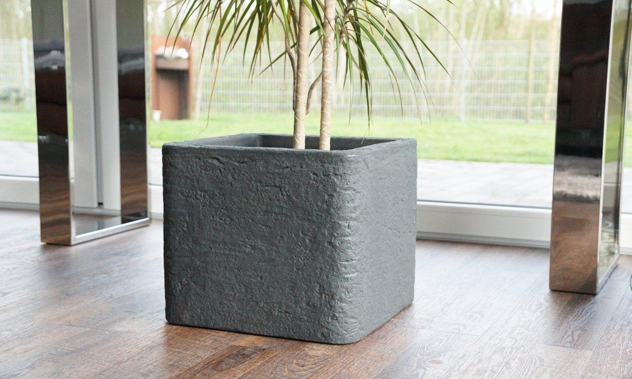 Blumentopf Betonoptik Cube